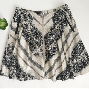 Anthropologie Edme & Esyllte Black and Cream Skirt